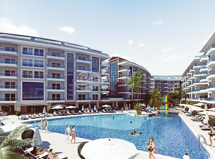 Luxury complex with many on site facilities in Alanya