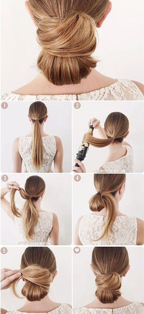 Tutorial on how to make a pretty low wrapped bun