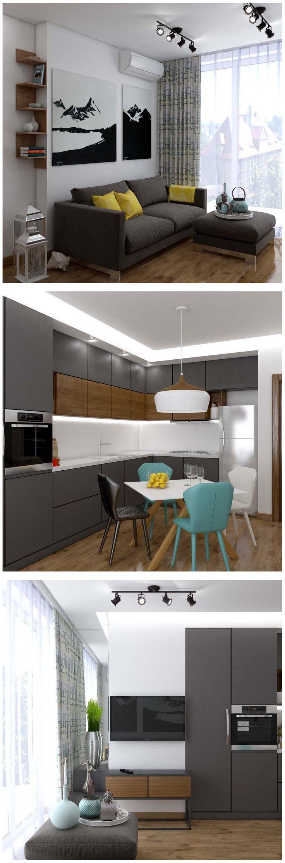 Modern kitchen. кухня в стиле минимализм, серая кухня