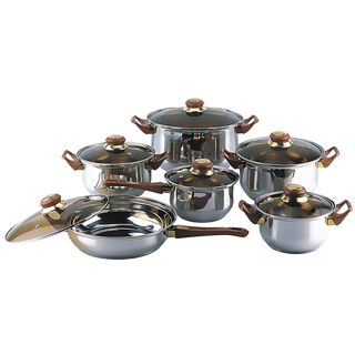 Gourmet Chef 12-piece Covered Cookware Set | Overstock.com Shopping - The Best Deals on Cookware Sets
