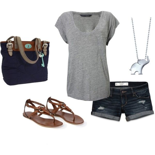 Is it summer yet?Fashion, Summer Casual, Style, Casual Summer Outfits, My Outfit, Simple Summer, Fossils Bags, Travel Outfit, Elephant Necklaces