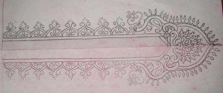 How To Draw Embroidery Designs