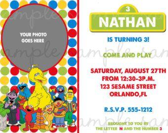 Sesame Street Birthday Invitation by MissYaniDesigns on Etsy
