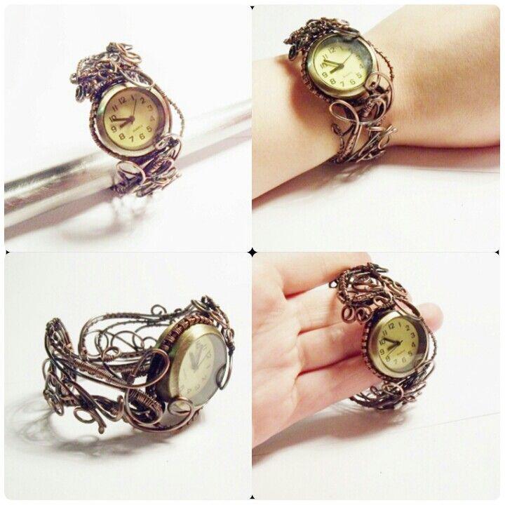 Najnowszy projekt.zegarek z miedzianą bransoletą