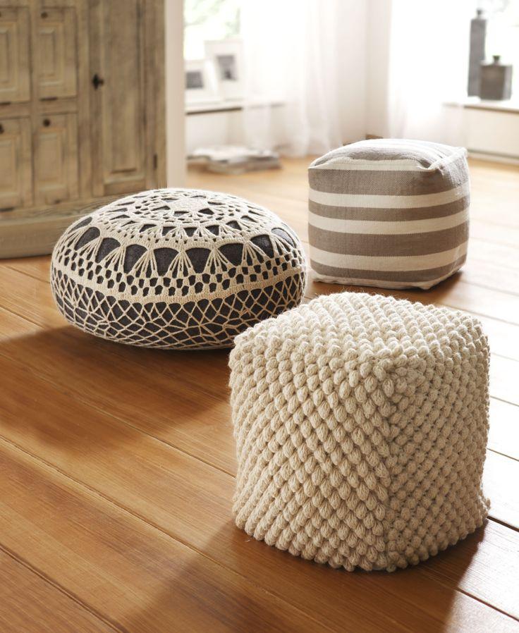 Пуфик. Отличное решение для вашего дома! Ручная работа. Наполнитель из пенополистирола. Размер ок. 40х35х35 см.  #quelle #trends #fashion #style #brands #lifestyle #home #Decoration
