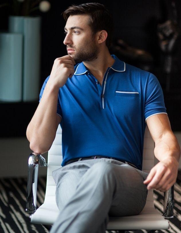Chemise de golf pour hommes Vintage