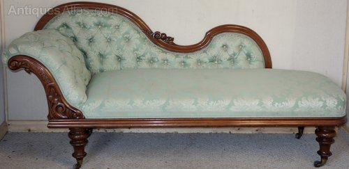 Carved Mahogany Victorian Chaise Longue - Antiques Atlas
