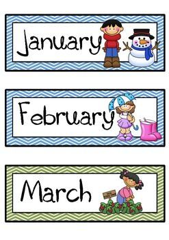 Months of the Year with Seasons (American)
