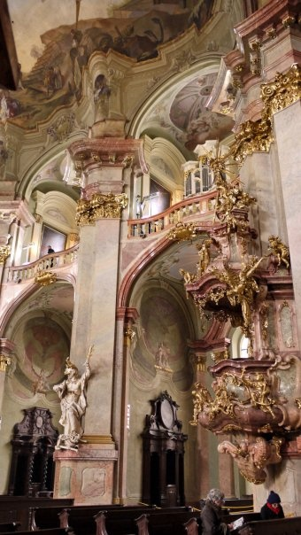 Inside St Nicholas Church, Prague