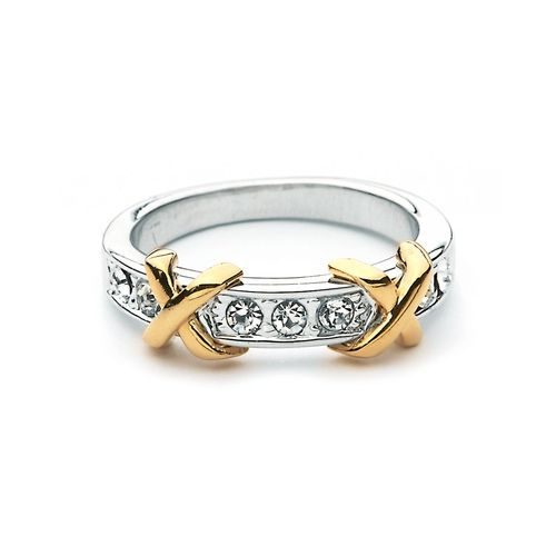 Double Kiss XO Dual Tone Ring