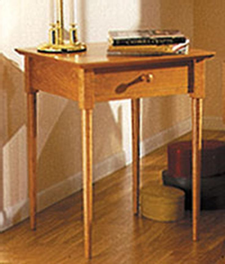 Shaker nightstand plans free woodworking projects plans for Nightstand plans