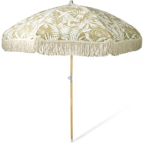 Jungle Canopy Beach Umbrella by Sunday Supply Co. Salt Living Boutique in Coolangatta, Gold Coast Australia or online at www.saltliving.com.au  #sundaysupply #saltliving #beachumbrella