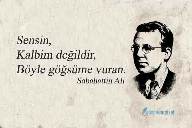 Sabahattin Ali Aşk Sözleri - Güzel Aşk Sözleri | Sözünengüzeli