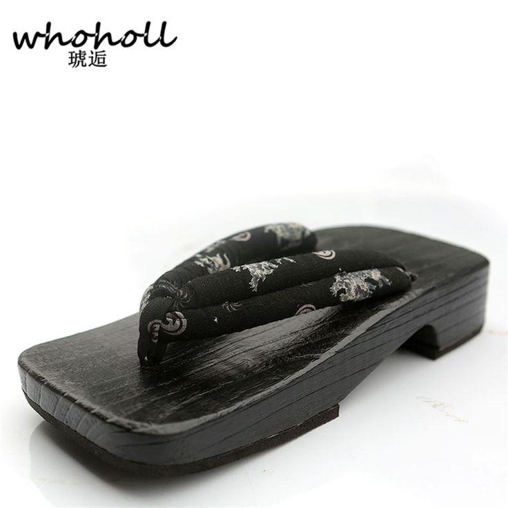 check discount whoholl summer mens sandals 2017japanese geta wooden slippers platform sandals man #wooden #clogs