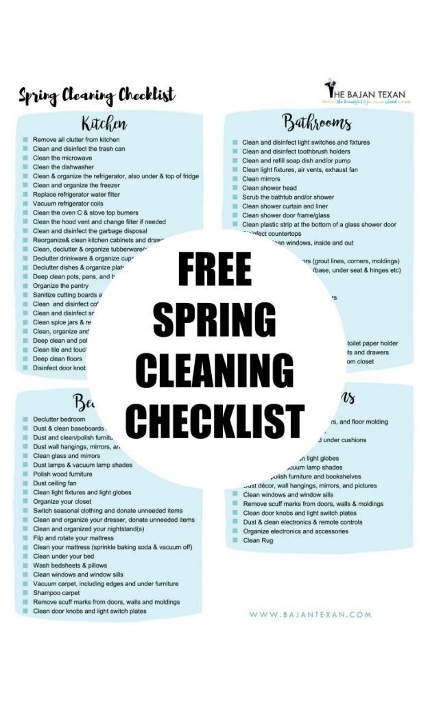 17 Best Ideas About Room Cleaning Checklist On Pinterest