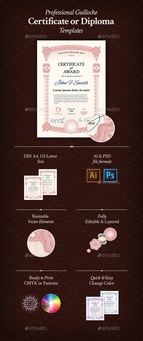 156 best certificate template design images on pinterest award certificate certificate templatespsd templatesadobe illustrator yelopaper Gallery