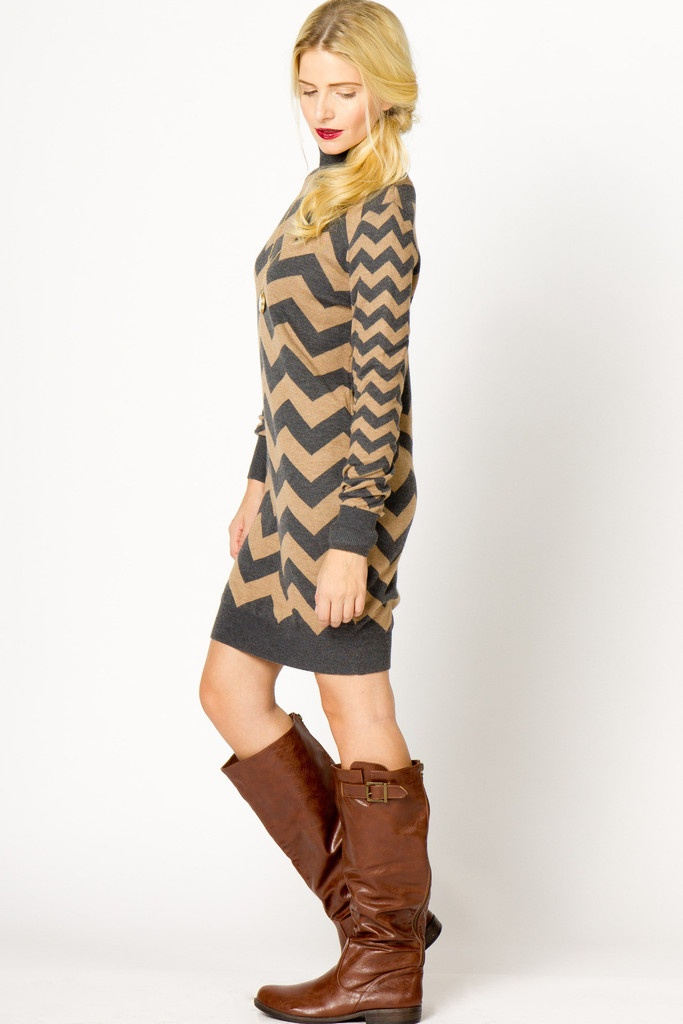 Chevron Sweater Dress