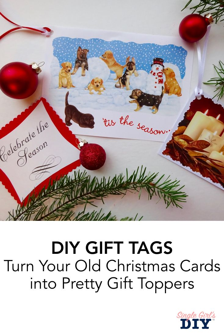 Diy Gift Toppers That Stay Pretty When You Mail Them Christmas Gift Tags Easy Diy Gifts Diy Christmas Gifts