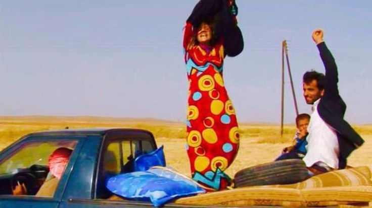 Photos of women fleeing ISIS-controlled areas of northern Syria while tearing off their black coverings were posted to social media this week.