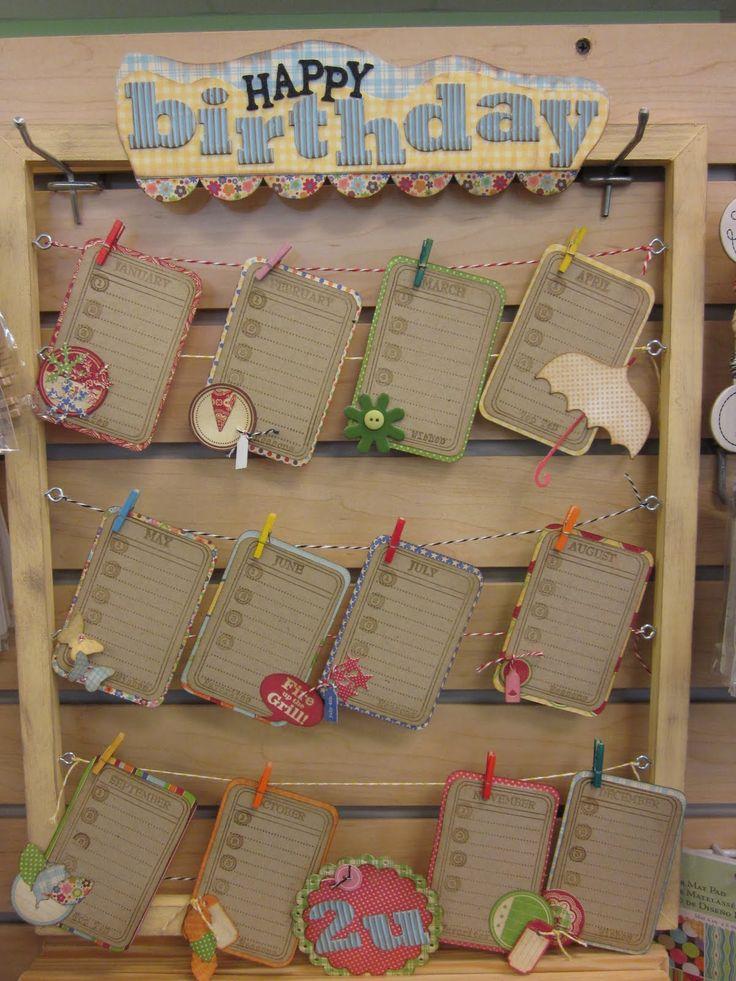 Diy Birthday Calendar Ideas : Birthday reminder board from where scrappin happins