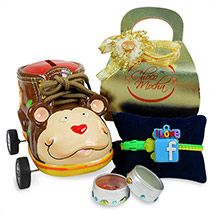 Money Bank & Facebook Rakhi Hamper