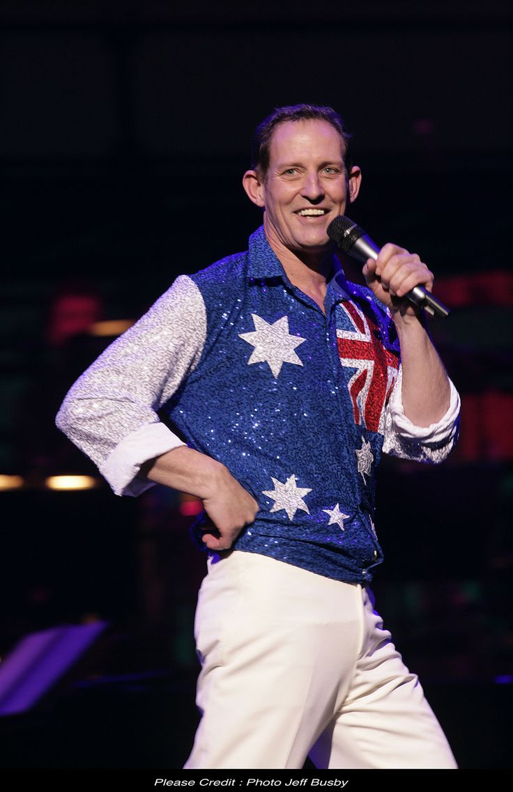 The Boy From Oz - Australian Flag Shirt for Todd McKenney - Costume Design By Kim Bishop 2010 - 11 kimbishop.com.au