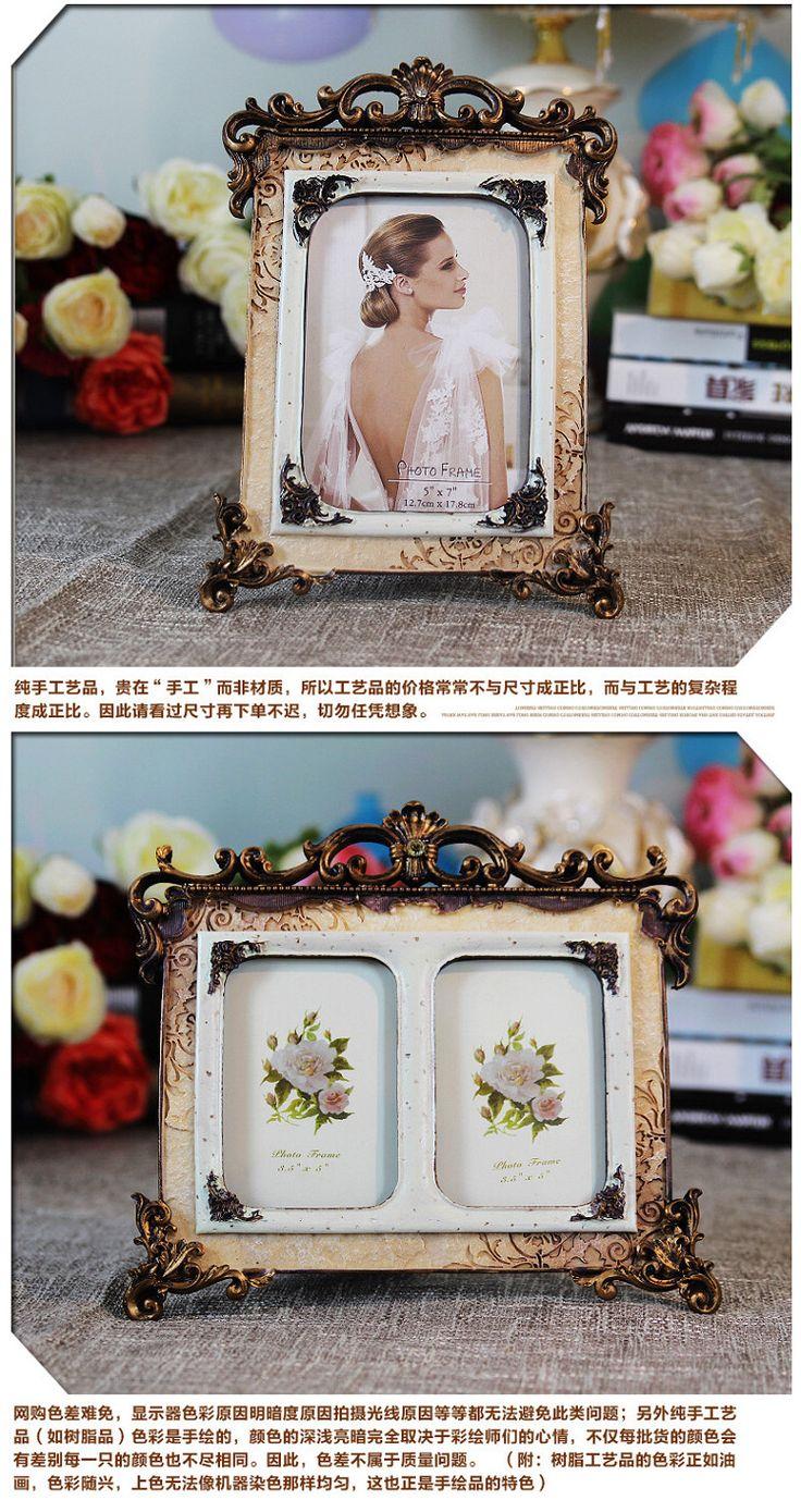 Смолы старинные фоторамки 6 дюймов 7 дюймов 8 дюймов 10-дюймовый сочетание фоторамка качели устанавливает творческие фото Рамка стены вися в европейском стиле рама-Таобао