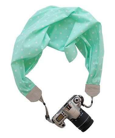 Loving this Mint Scarf Camera Strap on #zulily! #zulilyfinds