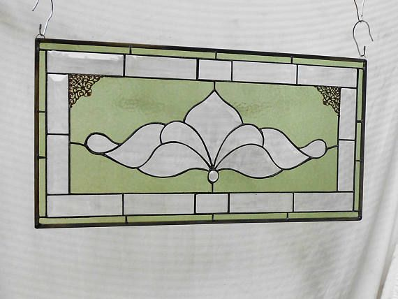 Traditional Vintage Look Victorian Stained Glass Panel Window