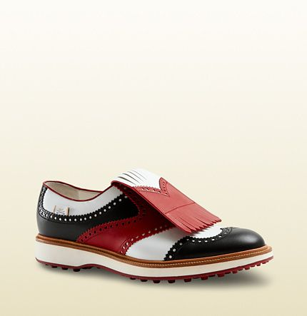f3b3dd84e49 Gucci - leather lace-up fringed shoe Golf shoe in multiple colors  780