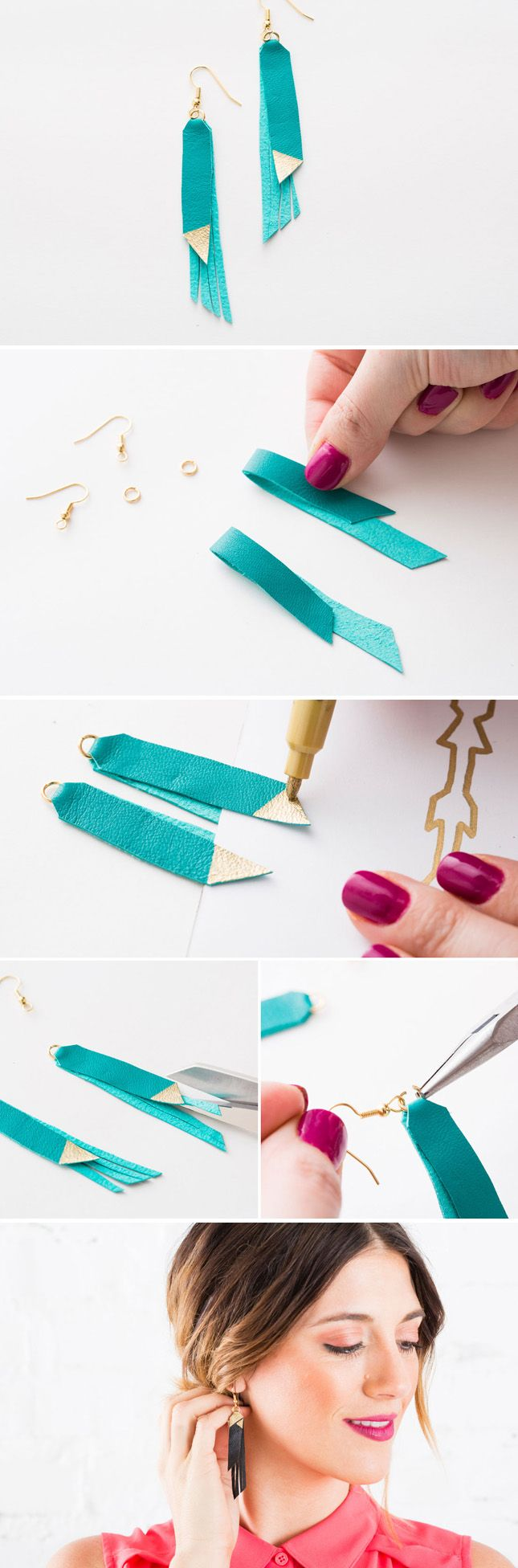 Make your own leather fringe jewelry with this kit. Buy it here…
