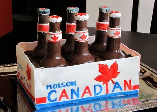 Chocolate Beer Bottles: Cool Cakes Design, Amazing Cakes, Six Packs, Beer Cakes, Beer Bottle, Creative Cakes, Cake Designs, Molson Canadian, Design Cakes