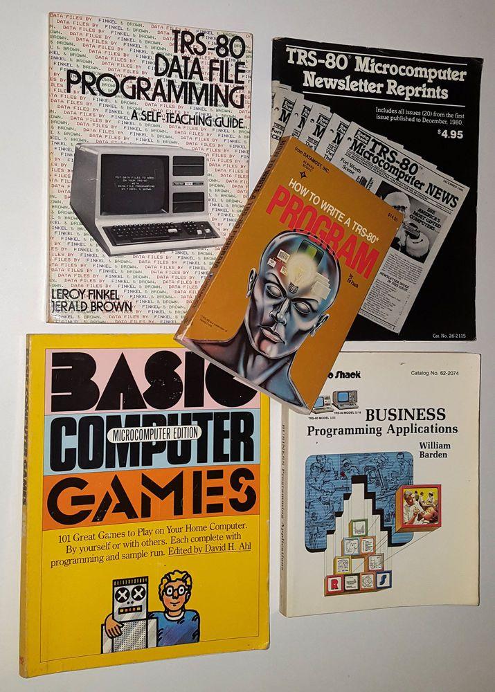 TRS80 PROGRAMMING BOOKS LOT TRSDOS BASIC PROGRAM