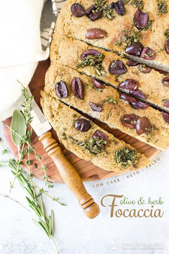 Keto Olive & Herb Focaccia