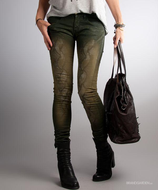Cyndi Python Jeans WillowGreen Nolita