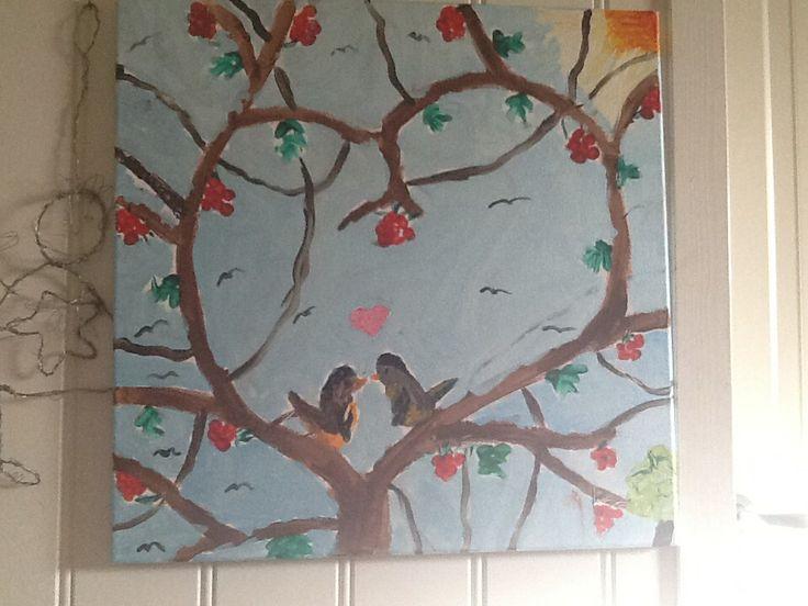 Bilde malte jeg da jeg var 11. Når jeg jobbet på SFO. For å vise mange eksempler for de små.