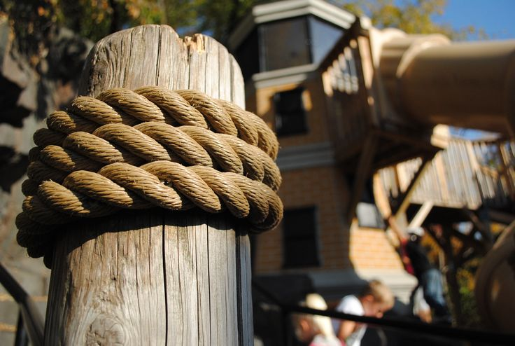 Mooring ropes on a dock post by DAMON FARBER / Dock Ropes, Design, Playground, Nautical