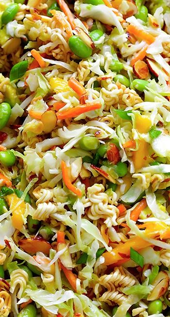 "Crunchy Asian Ramen Noodle Salad ~"" (a.k.a. Basically The Best Potluck Salad EVER)"""