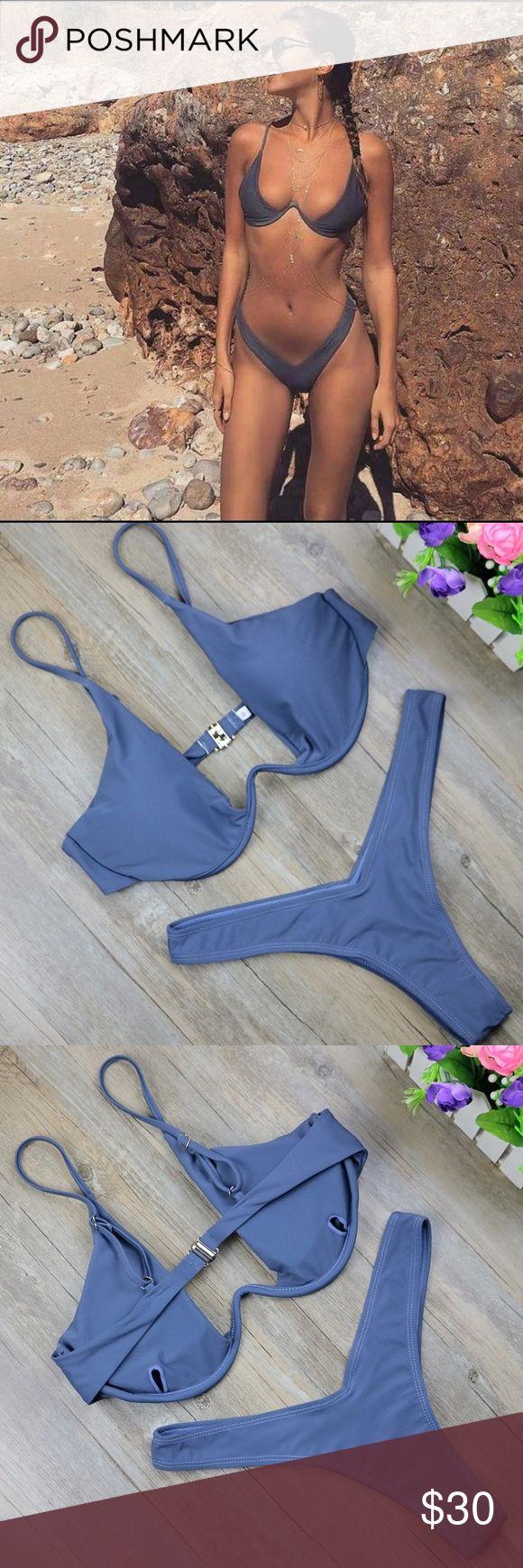COMING SOON!! Coming in stock soon! Grayish blue color Swim Bikinis