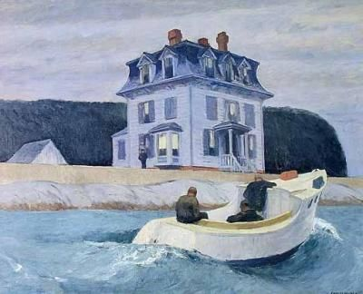 Hopper Poster sur Toile - Les Contrebandiers - Easyart.fr