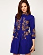 Enlarge ASOS Shirt Dress With Gold Embroidery