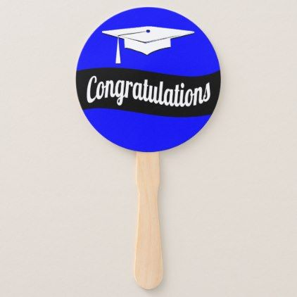 Congratulations Graduation Grad Cap Hand Fan - graduation gifts giftideas idea party celebration