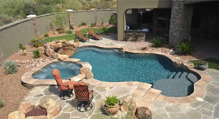 Scottsdale swimming pools alexon design provided by for Backyard inground pool designs