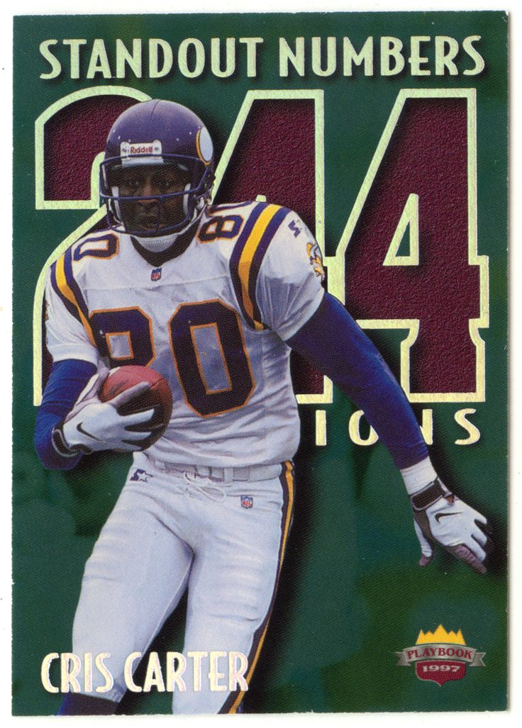 Cris Carter # SN 3 - 1997 Score Board Playbook By The Numbers Football - Standout Numbers