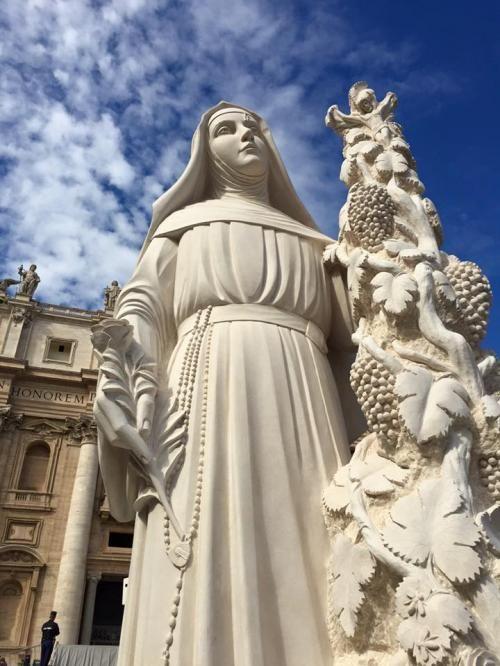 Santa Rita a Cascia con la nuova statua Domenica 18 ottobre