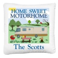 This Personallized Home Sweet Motorhome Pillow Cover Would Make A Great Accent For Your Decor