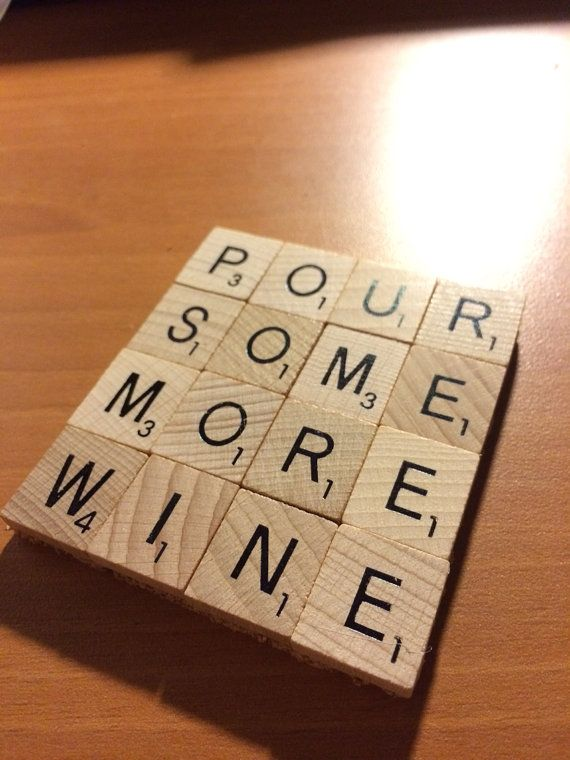 Scrabble Tile Coaster Design Your Own 4x4 By