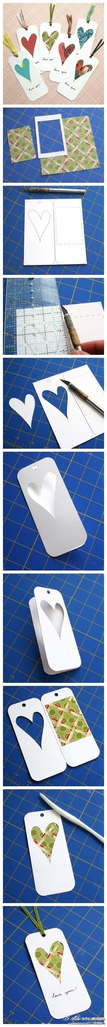 Cute heart bookmark