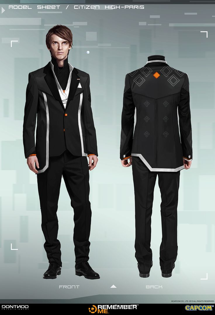 male concept art that I did for the High paris for the video game REMEMBER ME Dontnod Entertainment/Capcom