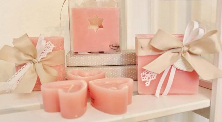 candele in rosa